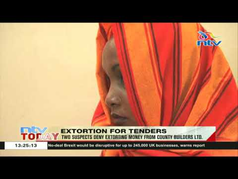 Two suspects deny extorting money from County Builders LTD