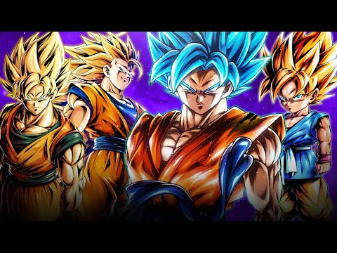 **ALL GOKU TEAM** SSB Goku leads the charge with GT Goku & Otherworld Goku | Dragon Ball Legends