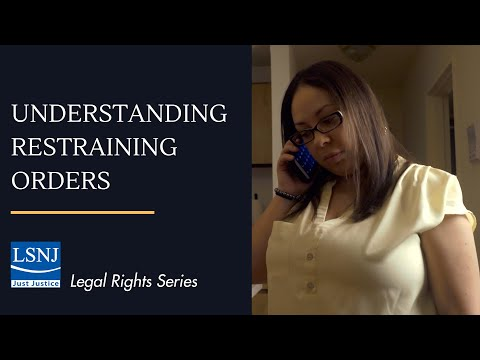 Understanding Restraining Orders  An Introduction