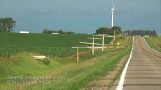 Garner, IA - High Voltage Power lines Completely Snapped 7/10/2017