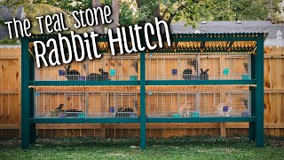 Rabbit hutch remodel/build with KW Cages (silver fox and creme d'argent meat rabbits)