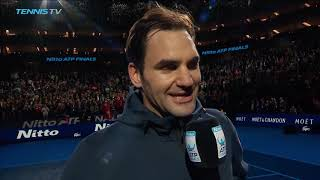 Federer Reflects On Thiem Victory At The Nitto ATP Finals 2018