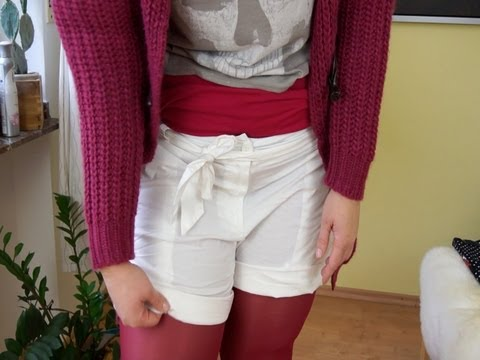 Plus Size Outfit funky Shorts & bunte Strumpfhose + Trau Dich was! (Aufgabe Herbstaktion)