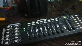 Tutorial cara menggunakan atau mengoprasikan mixer lighting DMX 512