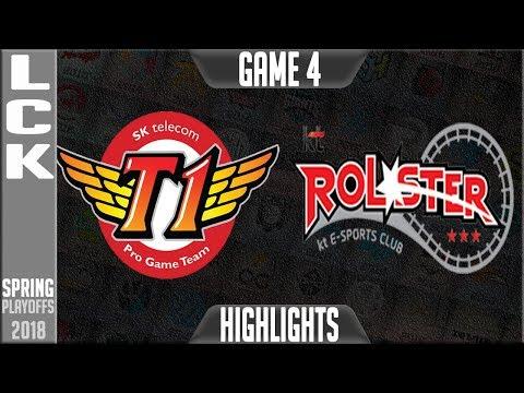 skt vs kt highlights game 4 lck playoffs round 2 spring 2018