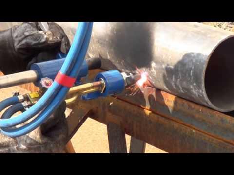 Metodo innovativo per innesto di tubo su altro tubo ad angoli diversi.