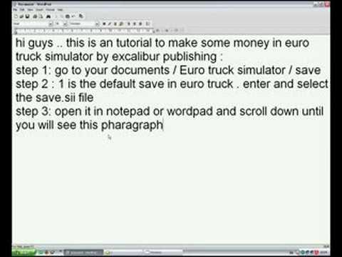 Euro Truck Simulator Money Cheat