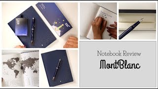 Mont Blanc Notebook  Review & Pen Test  🖌Ft: Le Petit Prince Pen