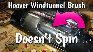 Fixing a Hoover Windtunnel Central Vacuum Brush That's Not Spinning - Belt Change & Cleaning