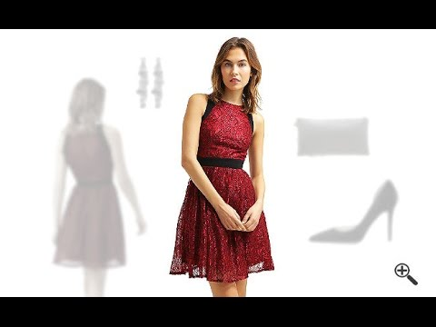 Rotes Kleid in Kurzkombinieren + 3Rote Outfits für Lea