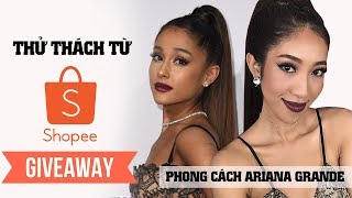 Shopee Challenge & GIVEAWAY 💓 Makeup Party Theo Phong Cách Ariana Grande [Vanmiu Beauty]