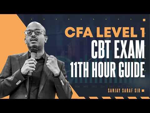 CFA Level 1 | CBT Exam | Last Minutes Preparation Strategy ...