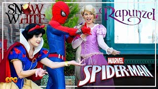 NEW VIDEO! RAPUNZEL & SNOW WHITE CONFRONT SPIDER-MAN