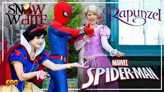 NEW VIDEO! RAPUNZEL & SNOW WHITE CONFRONT SPIDER-MAN