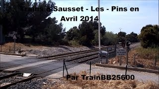 preview picture of video 'Trains à Sausset-les-Pins en Avril 2014'