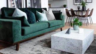 Green Living Room Ideas ✔️