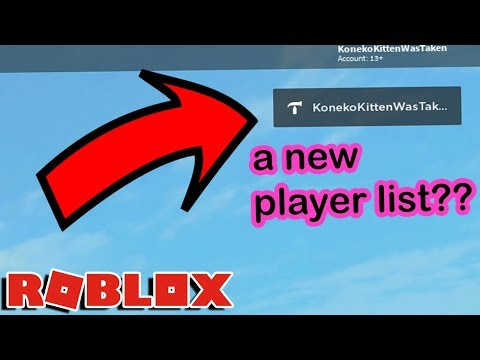 ROBLOX UPDATED THE PLAYER LISTS...and it's actually GOOD?