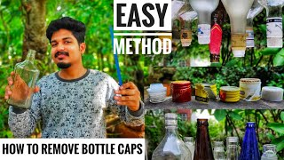 HOW TO REMOVE BOTTLE CAP | NOZZLE | HOW TO REMOVE LIQUOR BOTTLE STICKERS | GREEN TOONS