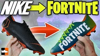 How To Make Fortnite Battle Royale Boots! 🎮 Custom Nike Cleats