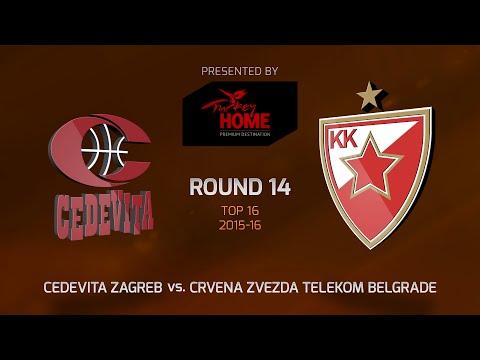 Highlights: Top 16, Round 14, Cedevita Zagreb 83-62 Crvena Zvezda