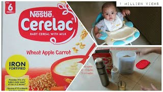 Cerelac for 6 months plus baby | Nestle cerelac wheat apple carrot