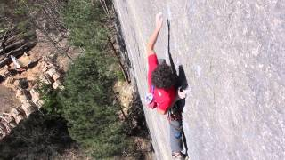 "Jacopo Larcher climbs ""Prinzip Hoffnung"" [ 8b/8b+ E9/E10 ]"
