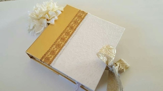 Elegant Wedding Guest Book Inspired By Mini Albums