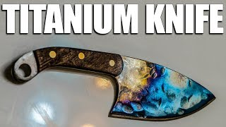 Forging a Knife from a Titanium Jet Engine Turbine Blade