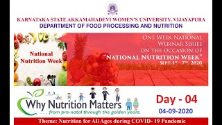 National Webinar | Nutrition for all ages during COVID-19 Pandemic | Day 04