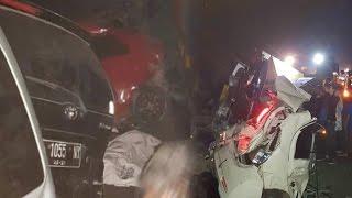 Dua Tewas dan Belasan Luka luka, Sepuluh Kendaraan Terlibat Kecelakaan Beruntun di Tol Purbaleunyi