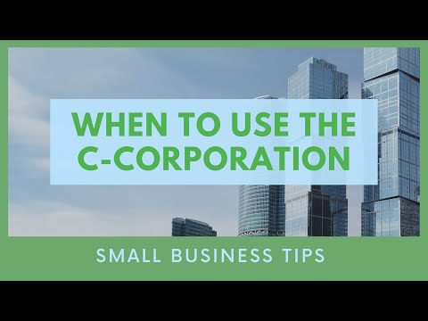 Video When to Use the C-Corporation | Mark J Kohler | Tax & Legal Tip