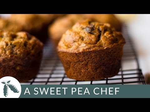 Video Healthy Banana Chocolate Chip Muffins | A Sweet Pea Chef