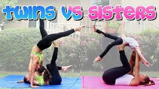 TWIN VS SISTER ACRO YOGA CHALLENGE