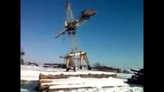 Wypadek Dzwigu podczas pracy / Crane accident while on the job LEVEL RUSSIA !
