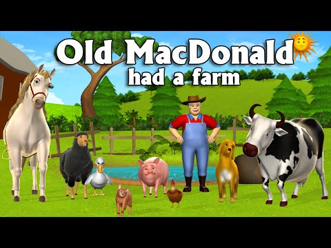 old macdonald had a farm 3d animation english nursery rhymes