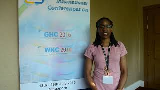 Dr. Uzama Uwakah at WNC Conference 2016 by GSTF