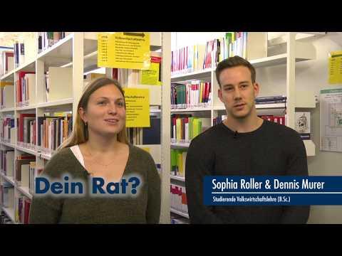 Thumbnail YouTube Video mit Foto der Studierenden und der Frage: Euer Rat für jemanden, der interessiert ist?