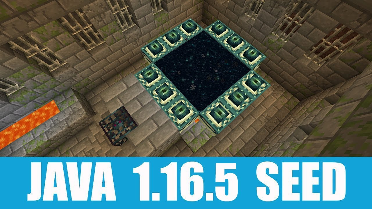 Minecraft Java 1.16.5 Seed: 12-eyes end portal stronghold under a village with only one building MINECRAFT SEED 9009198391873876587