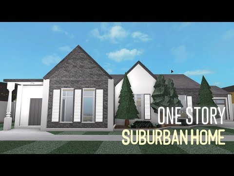 Roblox Welcome To Bloxburg One Story Suburban House