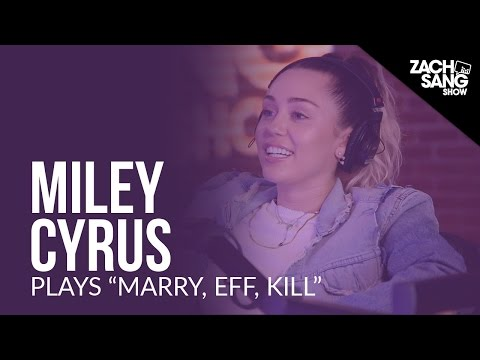 "Miley Cyrus Plays ""Marry, Eff, Kill"" With Her Songs"