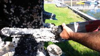 Easiest Way To Remove Barnacles From Boat or Out Drive
