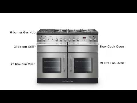 Rangemaster Range Cooker Dual Fuel ESP110DFF - Various Colours Video 1