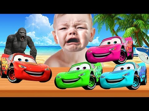 Learn Colors With Disney Pixar Cars 3 Lightning McQueen Cars 3 Cartoon For Children