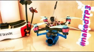 Naked TP3 flight test [poor lighting conditions] FPV Toothpick Betaflight 4.2 [ 4K ]
