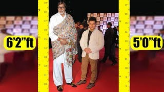 Shortest to Tallest all Bollywood actors Real height - Download this Video in MP3, M4A, WEBM, MP4, 3GP