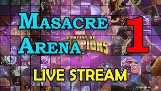 Masacre Arena - Round 2 - Part 1 | Marvel Contest of Champions Live Stream