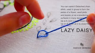 101 EASY STEP BY STEP  BASICS HAND EMBROIDERY STITCHES FOR BEGINNERS !!-