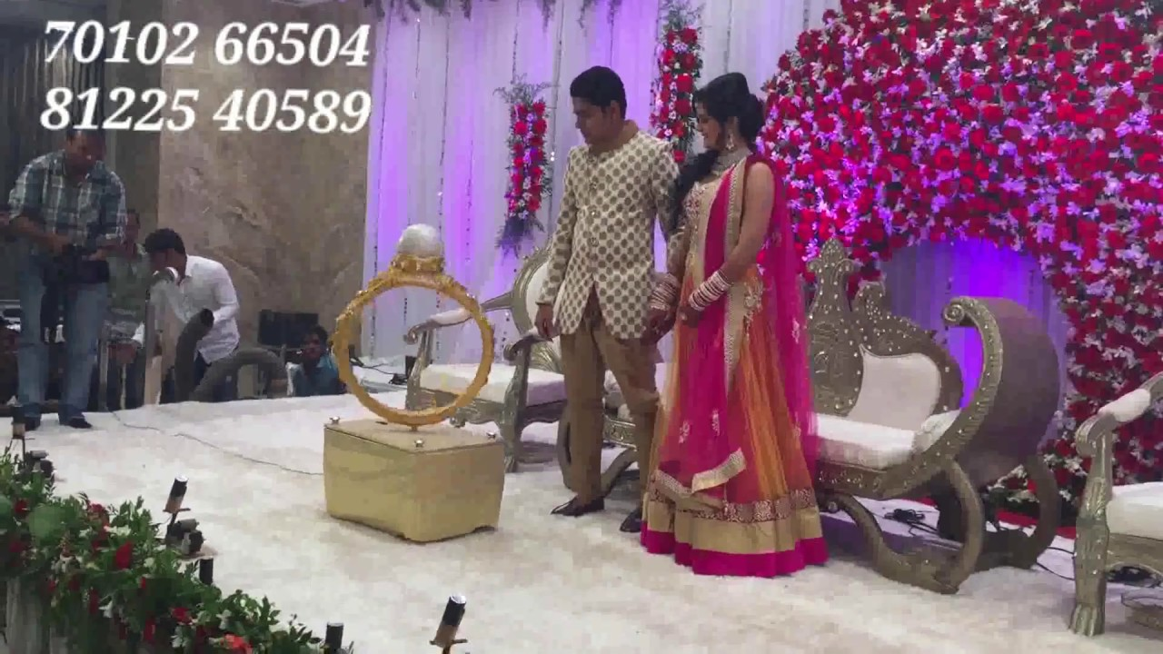 Ring Ceremony Bride Groom Wedding Ring Entry Engagement Event Rental India