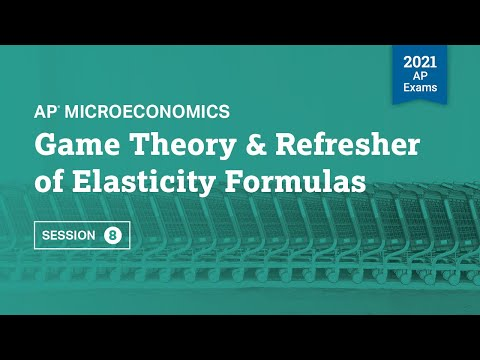 Game Theory & Refresher of Elasticity Formulas | AP Microeconomics