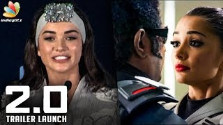 I was Nervous to act with Superstar : Amy Jackson Speech   2.0 Trailer Launch   Rajinikanth